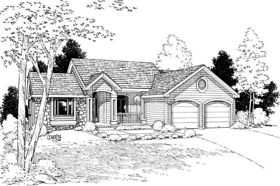 Main image for house plan # 5619