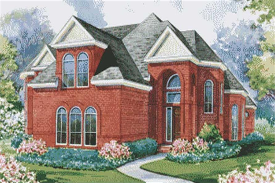 European home plans color rendering.