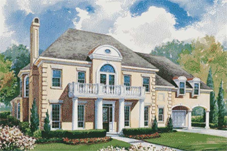 Southern plans color front elevation.