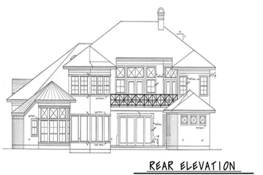 120-1973: Home Plan Rear Elevation