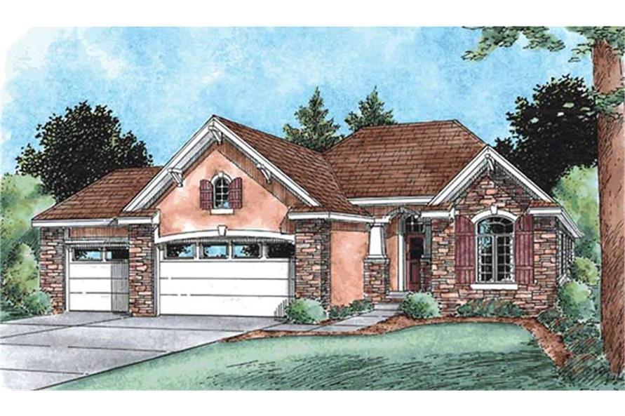120-2103: Home Plan Rendering