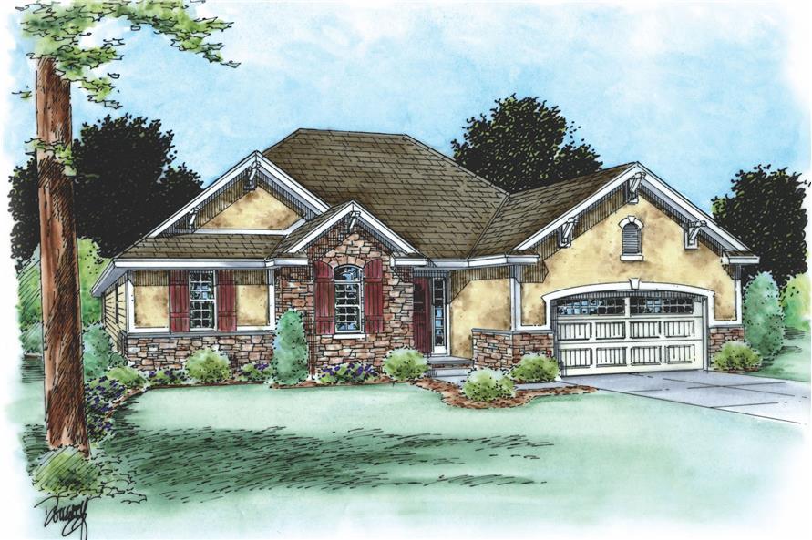 120-2105: Home Plan Rendering