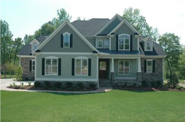 4-Bedroom, 3124 Sq Ft Country Home Plan - 120-2176 - Main Exterior