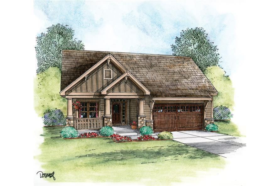 120-2233: Home Plan Rendering