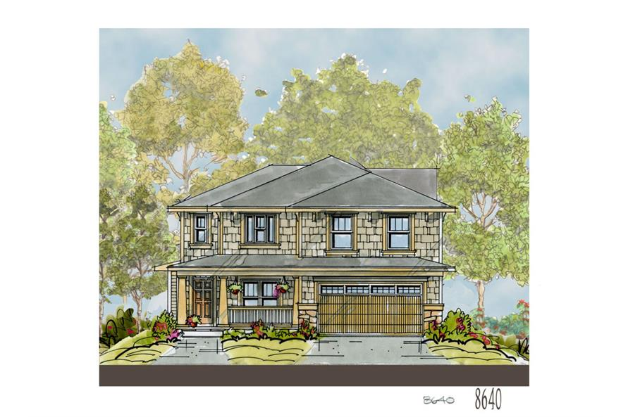 Front Elevation of this Craftsman House (#120-2249) at The Plan Collection.