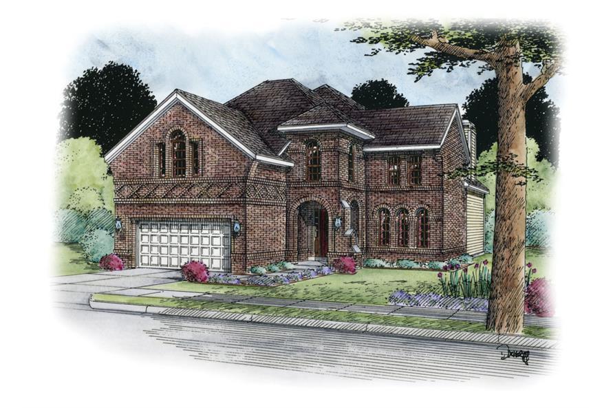 120-2303: Home Plan Rendering