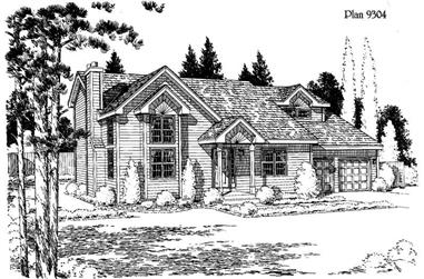 3-Bedroom, 1716 Sq Ft House Plan - 121-1004 - Front Exterior