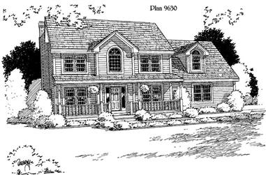 3-Bedroom, 2044 Sq Ft House Plan - 121-1026 - Front Exterior