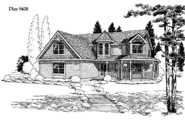 4-Bedroom, 2251 Sq Ft House Plan - 121-1031 - Front Exterior