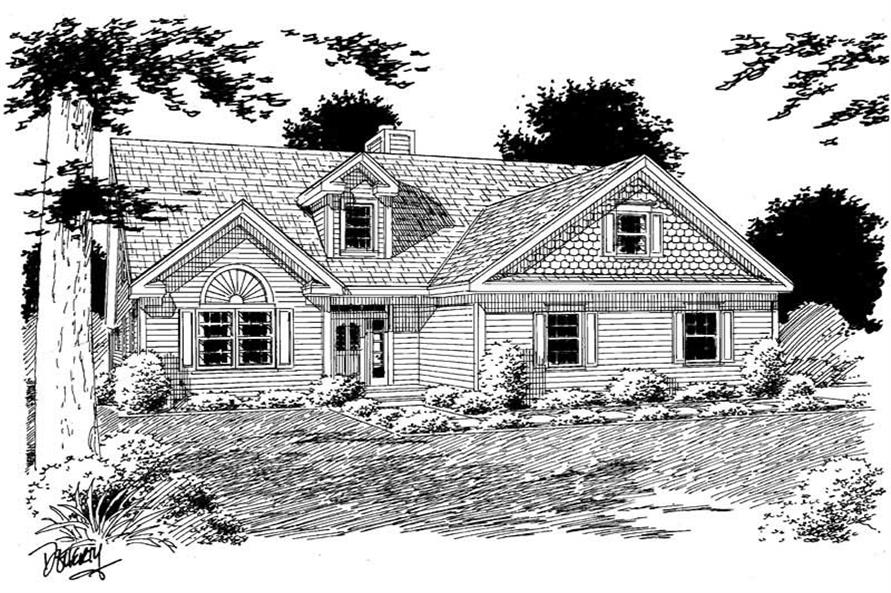 Main image for house plan # 3758