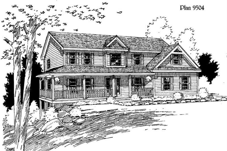 Main image for house plan # 3828