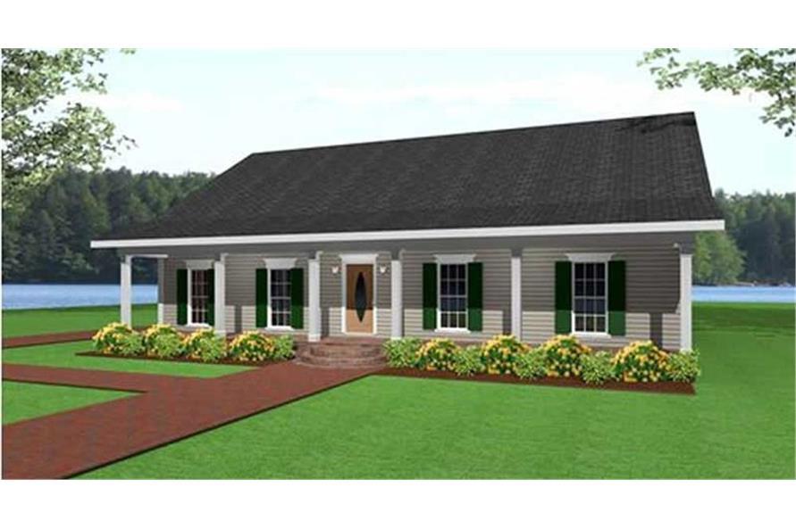 123-1000: Home Plan Rendering