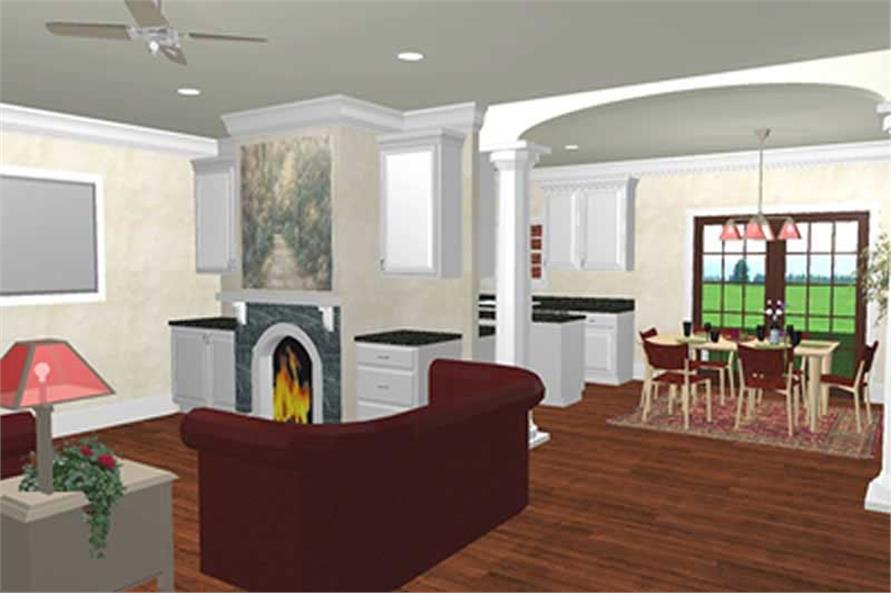 House Plan DP-1571 Interior Perspective