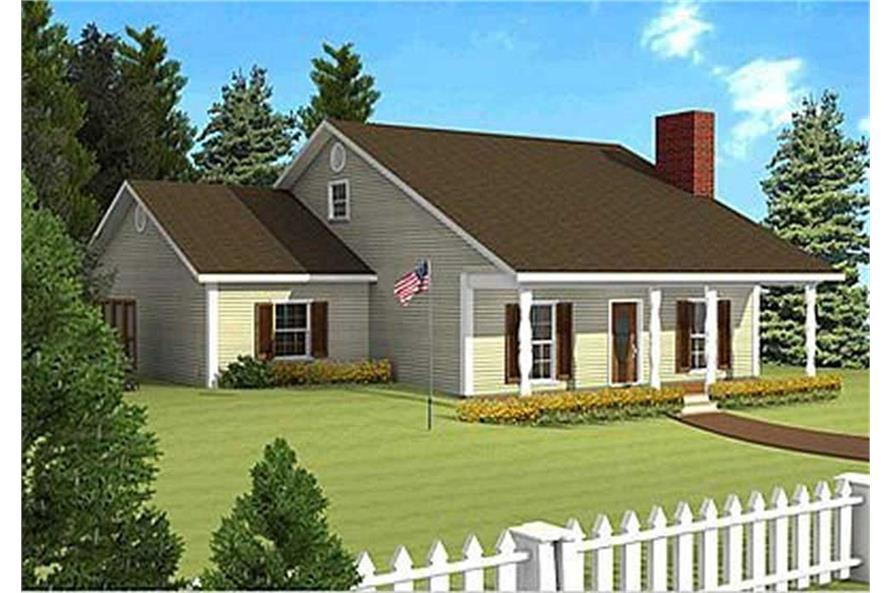 123-1019: Home Plan Rendering