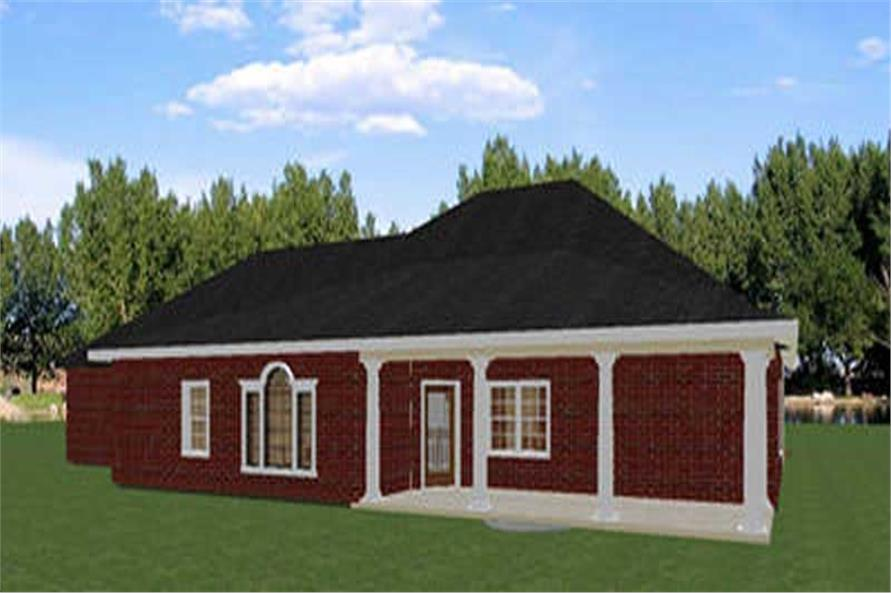 House Plan DP-2550 Rear Elevation