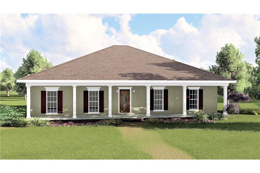 123-1031: Home Plan Rendering