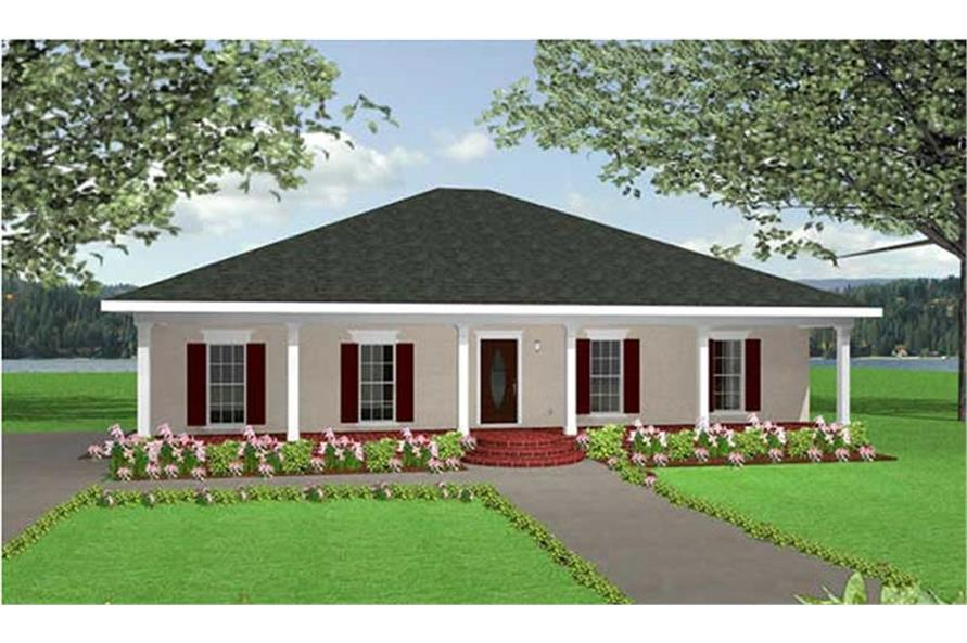123-1031: Home Plan Front Elevation