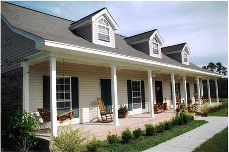 Home Exterior Photograph for country home plans DH2108