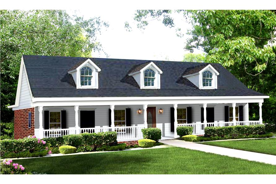 Color rendering of house plan #123-1039