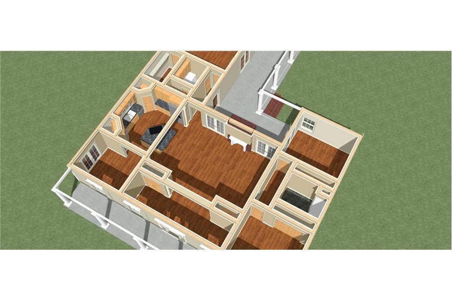 123-1062: Home Plan 3D Image