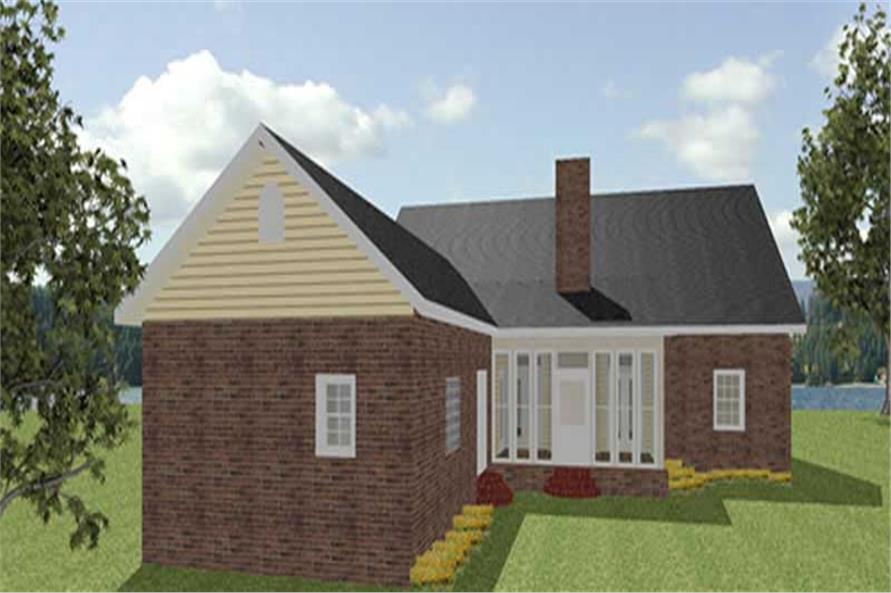 House Plan DH2300 Rear Elevation
