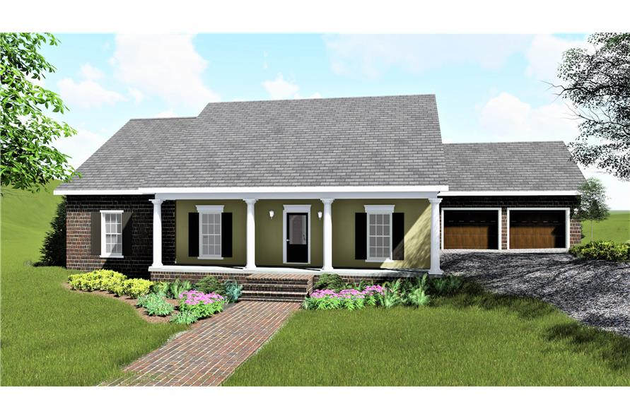 123-1078: Home Plan Front Elevation