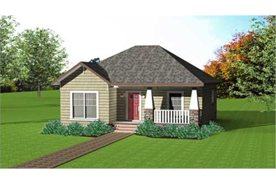 123-1083: Home Plan Front Elevation