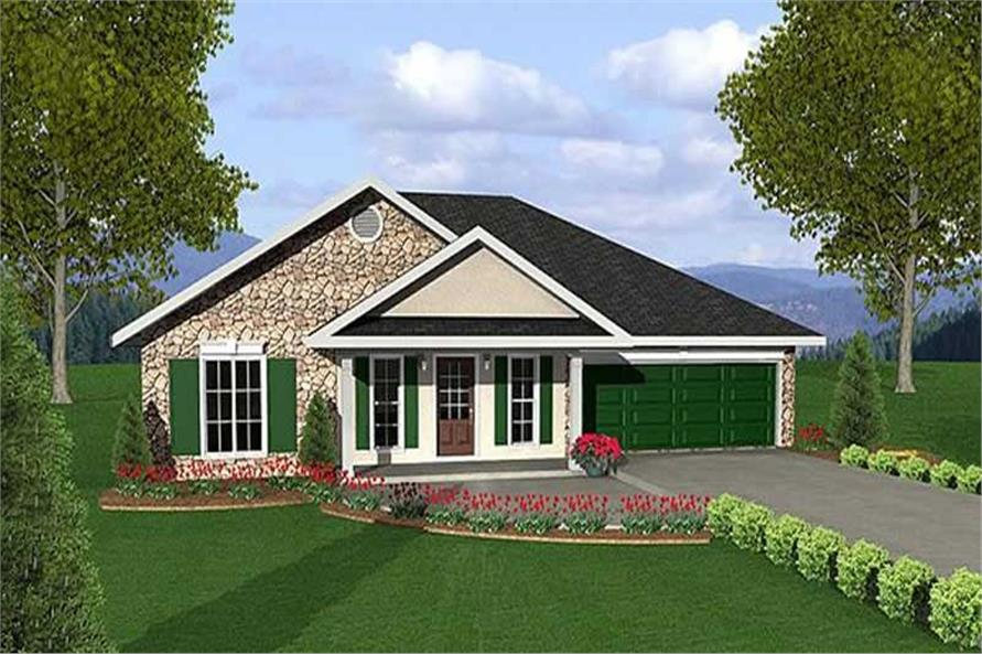 Main image for house plan # 16828