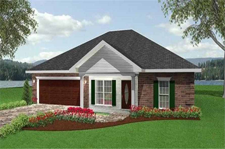 Home Plan Front Elevation for southern house plans # DP-1599