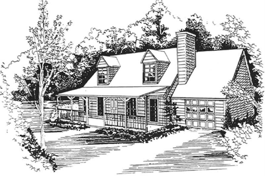 Main image for house plan # 7490