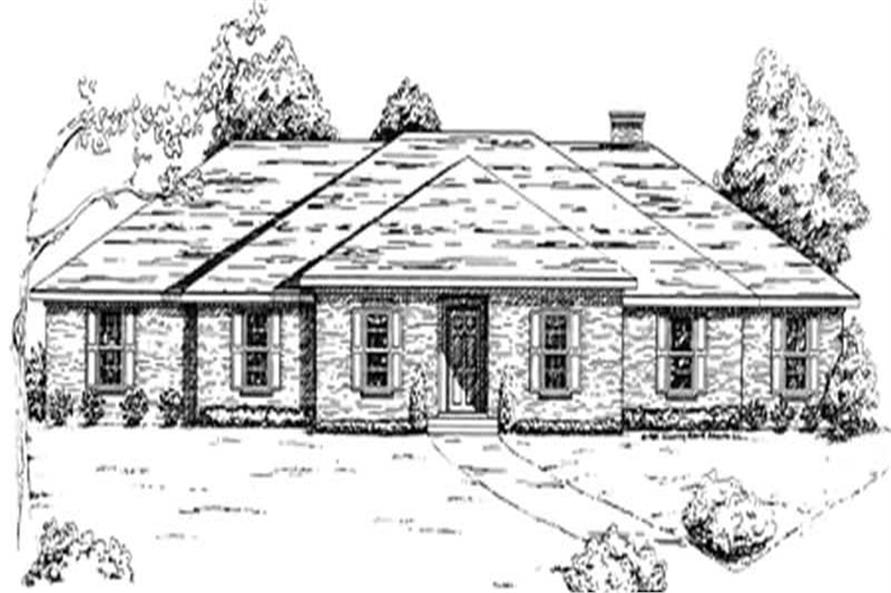 Main image for house plan # 7472