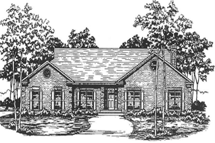 Main image for house plan # 7484