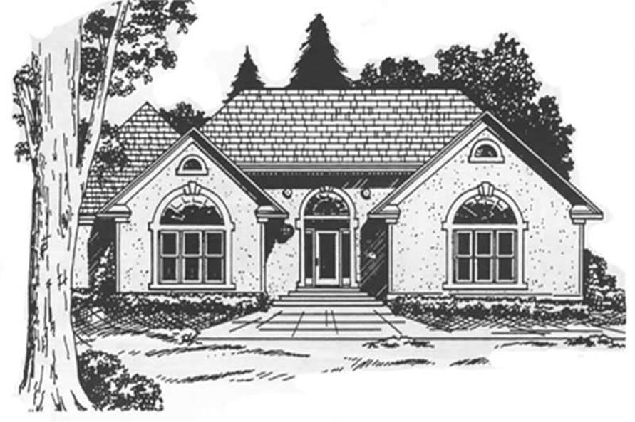 Main image for house plan # 7489