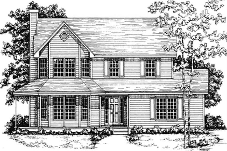 Main image for house plan # 7553