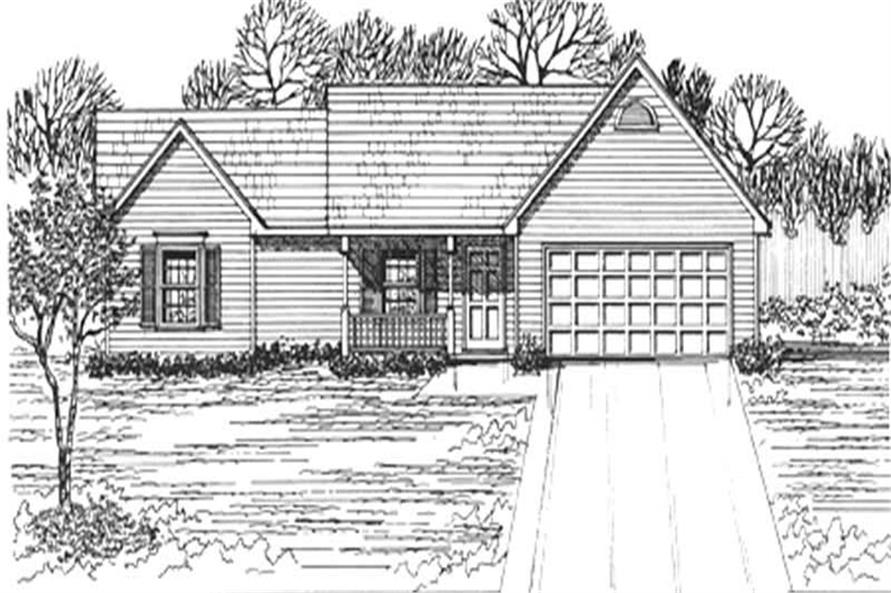 Main image for house plan # 7453
