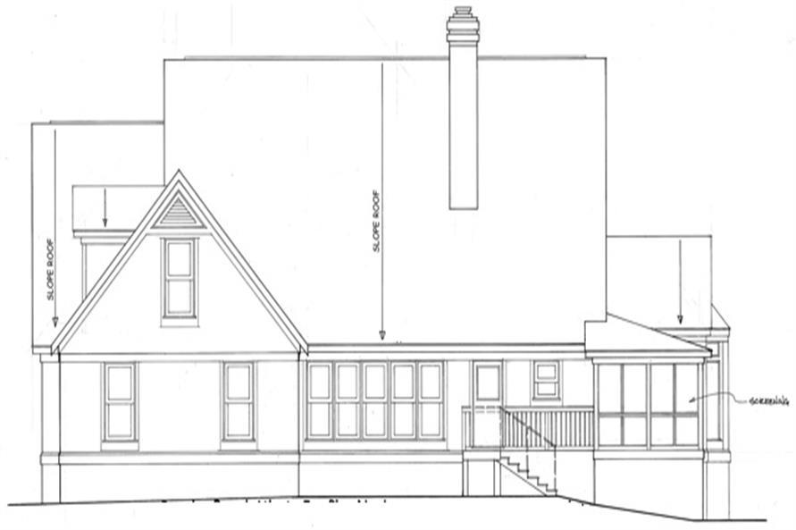 124-1111 house plan rear