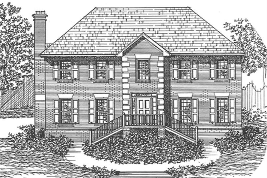 Main image for house plan # 7539