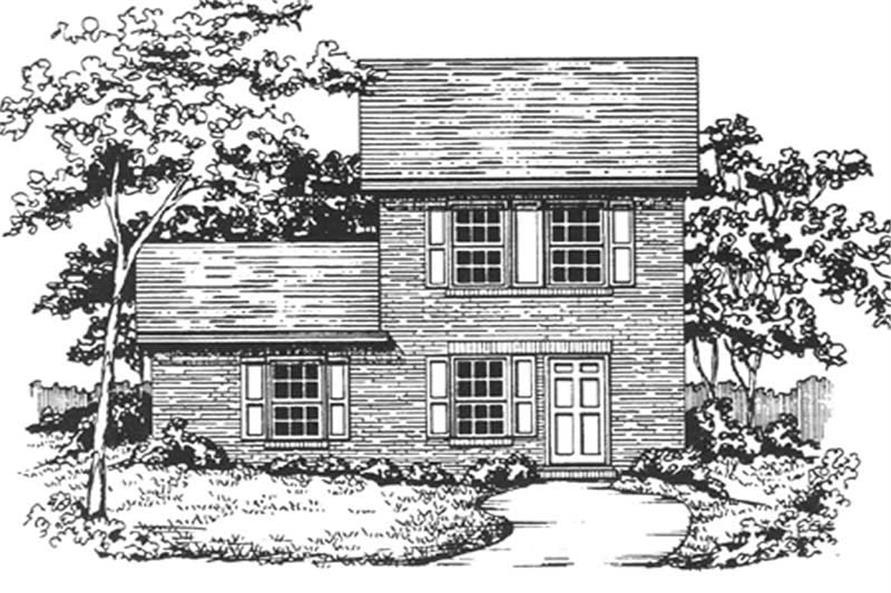 Main image for house plan # 7498