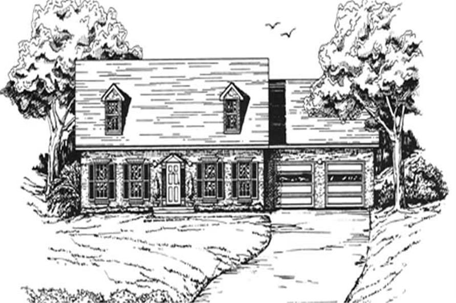 Main image for house plan # 7515