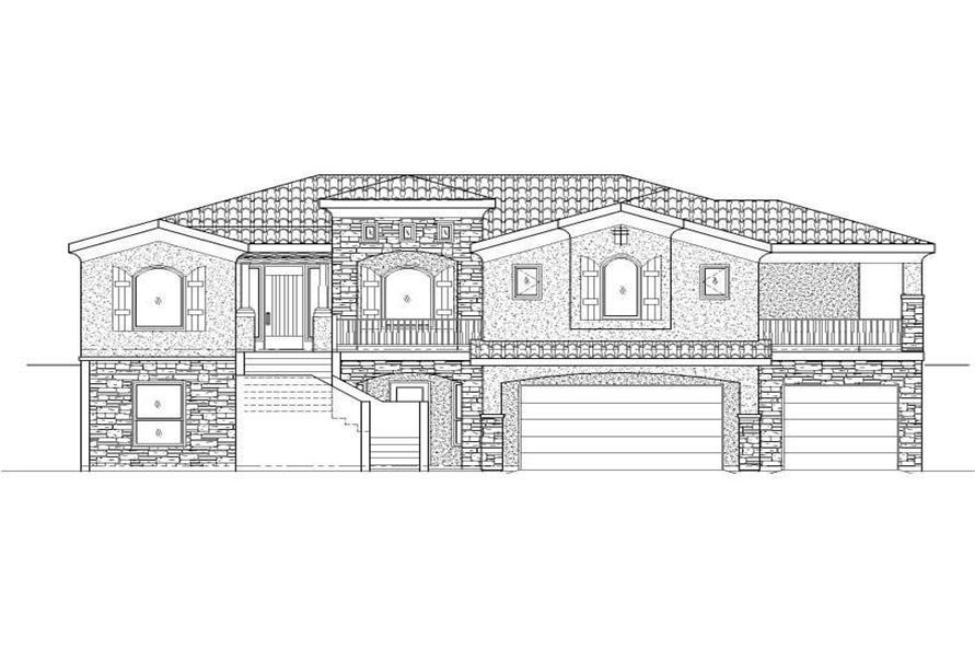 Main image for house plan # 19370