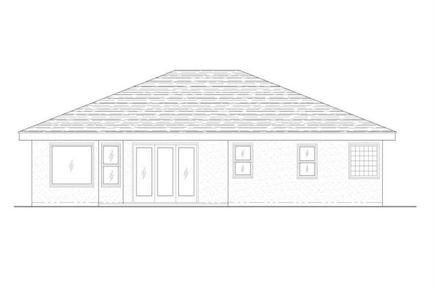 125-1021: Home Plan Rear Elevation