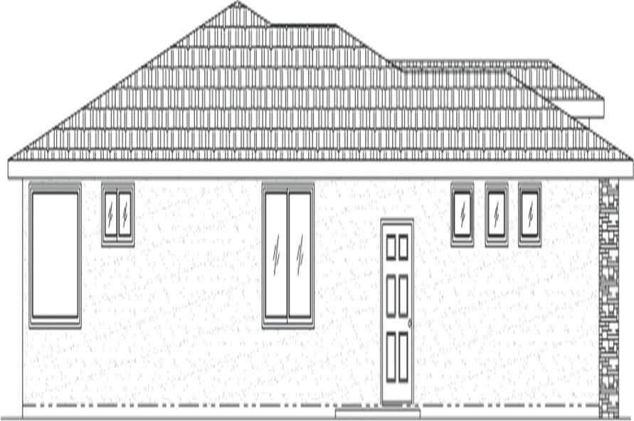 125-1048 house plan left elevation
