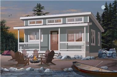 2-Bedroom, 480 Sq Ft Tiny House - Plan #126-1000 - Front Exterior