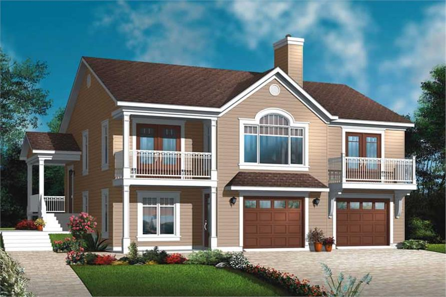 Main image for house plan # 20019