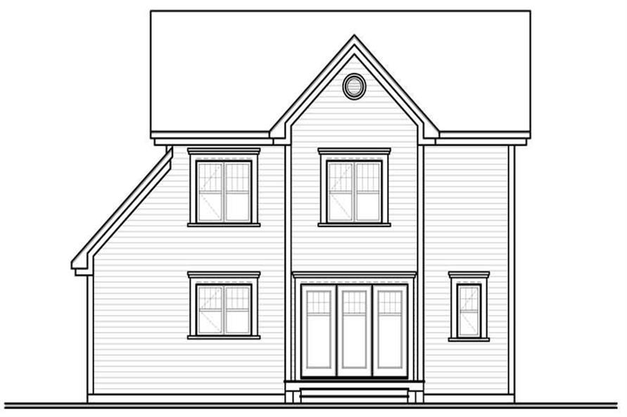 houseplan dd-3862 rear view
