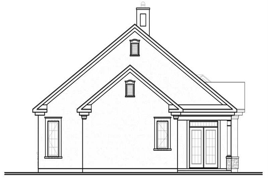House Plan dd-3251 Rear elevation
