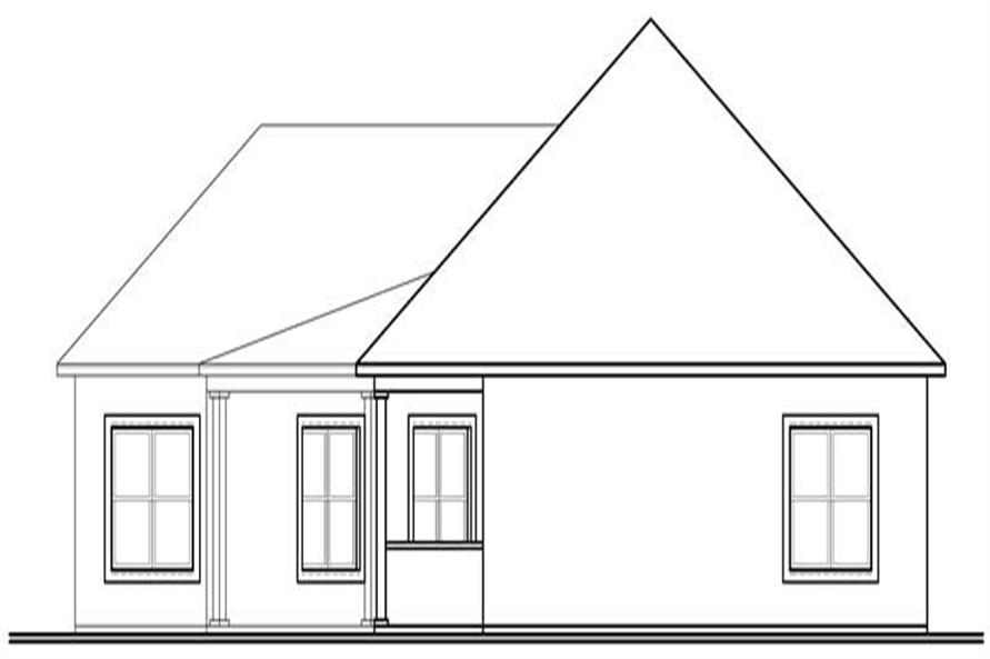 houseplan dd-3258 Rear elevation