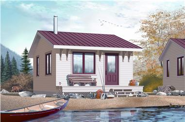 1-Bedroom, 320 Sq Ft Small House - Plan #126-1036 - Main Exterior