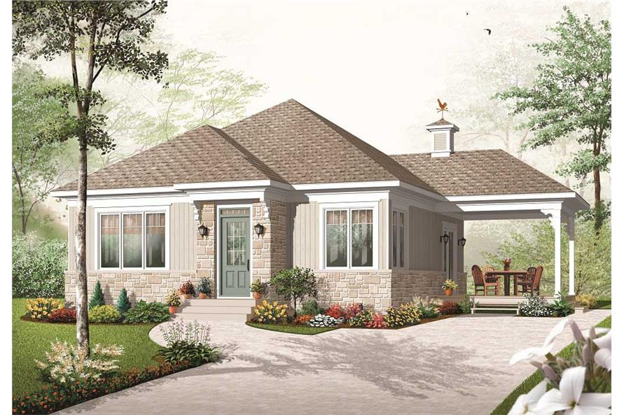 This is a computerized rendering for these Small Home Plans.