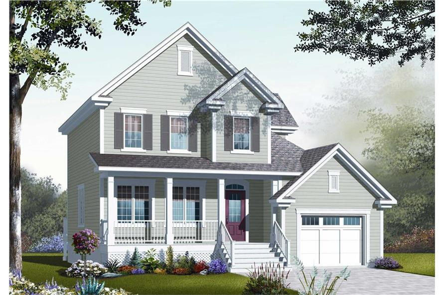 126-1066: Home Plan Rendering-Front Door